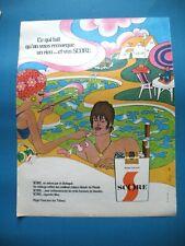 PUBLICITE DE PRESSE SCORE CIGARETTES ON VOUS REMARQUE ILLUSTRATION BERRY AD 1968