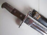 WWI Swiss Schmidt-Rubin Pioneer-Engineer M1914 Sawback Bayonet w/Scabbard