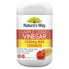 Nature's Way Apple Cider Vinegar 1200mg MAX STRENGTH 90 Tablets Natures Way