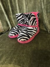 e5a0f521f57f7c Ladies JUSTIN Cowboy Slippers Zebra Stripe Bling 6 / 6.5 Youth Girls 4 4.5 7