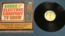 """SONGS FROM THE ELECTRIC COMPANY TV SHOW DISNEYLAND RECORDS 1350 (1973) 12"""" LP"""