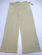 AIX en provence Womens Size Large Ivory Mesh Casual Rollable Casual Pants New
