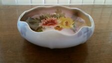 Noritake Bowl Hand Painted China Floral Pattern Scalloped Edge