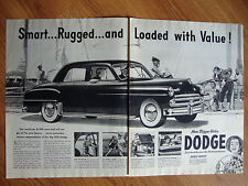 1950 Dodge Coronet Ad at the Marina Sailing Theme Smart Rugged Loaded
