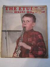 "(3) 1947 ""THE ETUDE"" MUSIC MAGAZINES - BALDWIN PIANO, WURLITZER  - TUB EEE"