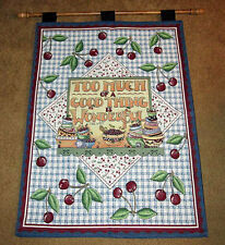 Mary Engelbreit ~ Too Much Of A Good Thing Is Wonderful Tapestry Wall Hanging