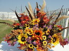 Feathered Harvest Headstone Memorial Grave Flowers Cemetery Tombstone Saddles