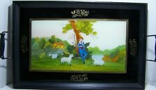 Artist Joan Carver  -Outlined Reverse Poss. Watercolor Painting on Glass Tray -