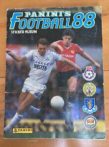 Panini Football 88 1988 Sticker Album 100% Complete. Good condition.