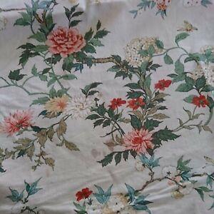 """Vintage Crowson Lavante Floral Chinz, Cotton Fabric 3 1/2 Yards Long x 54"""" Wide"""