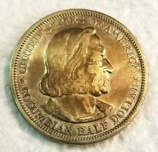 1893 Columbian Expo Half Dollar Very Choice High Grade Gold Toning