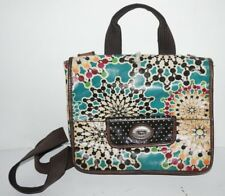 Fossil Key Per Multi-Color Purse Flip Top No Zipper Cross Body Shoulder Bag