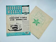 Hobbies Weekly with Fireside Table Bookcase Pattern February 27th 1957 n. 3200