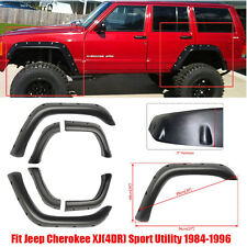 For 95 96 Jeep Cherokee XJ Pocket Pivot Style Fender Flares BLK ABS Wheel Cover