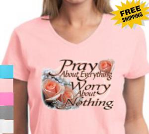 Religious Christian Pray About Cross Jesus Savior God Christ New Womens T Shirt