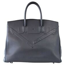 HERMES BIRKIN 35 Bag Ardoise Shadow Evercalf Leather Limited Edition VERY Rare