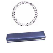 Herren Armband Echt Sterling Silber 925 Panzerkette Geschenk für Herren 19-24cm