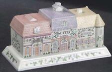 The Lenox Village Covered Butter Dish Fine Porcelain