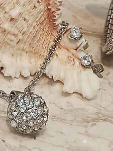 Teacher gift Silver Swarovski Necklace Bracelet Earring set HANDMADE present 5ct