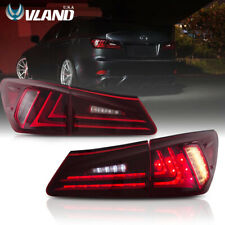 For 2006-2012 Lexus IS250 & IS350 LED Tail Lights 2015 Model Conversions Red Len