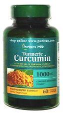 Turmeric Curcumin 1000mg 60 Capsules 100mg Extract 95% Standardized + Bioperine