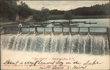 Kenoza Lake NY The Outlet Falls c1910 Postcard