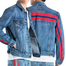 Levi's Men's Premium Trucker Denim Red Stripe Jean Jacket 67783-0000