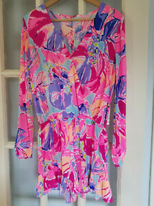 Lilly Pulitzer Fanning Romper Multi Jam Out Size Medium  (32081A)