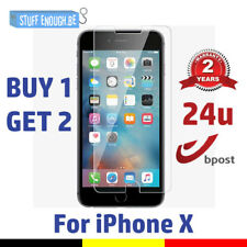 2 FOR 1 Screen Protector 9H LCD Protecteur Real Tempered Glass Film For iPhone X