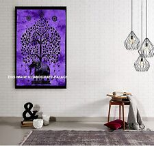 Tree of Life Psychedelic Wall Hanging Elephant Tapestry Indian Mandala Throw