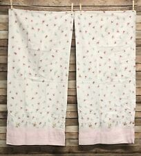 Rachel Ashwell Treasures Chelsea Floral White Pink King Pillowcases Cotton Twill