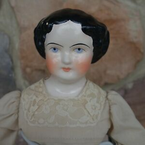 Vintage China Head Doll Numbered Original Dress