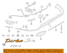 PORSCHE OEM 14-18 911 Rear Bumper-Emblem Badge Nameplate 99155924700