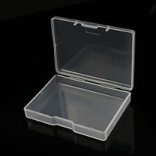 P 2Pcs Plastic Clear Transparent With Lid Storage Box Collection Container Case