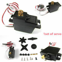 1/18 Metall Servo Gear Steering Servo Set für Military Truck RC Auto Spare Parts
