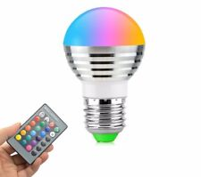 RGB LED Night Light 16 Colors E27 5W 110V-220V Lamp Spotlight Bulb With Remote