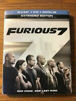 FAST AND FURIOUS FURIOUS 7 BLU-RAY EXTENDED VERSION NO DIGITAL HD FILE OR DVD)