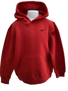 New Vintage NIKE Snuggly Unisex Pullover Hoodie Red Age 10-12 Years