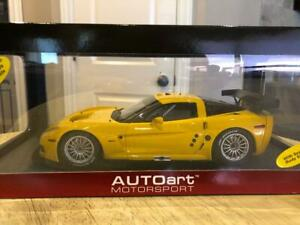 1/18 AUTOart Chevrolet Corvette C6R Plain Body Version (Yellow) 80551
