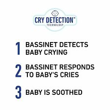 Graco Sense2Snooze Bassinet with Cry Detection Technology   Baby Bassinet Detect
