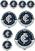 Stickers - AFL Carlton Blues (M1) Sticker Set