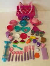 Disney Minnie Mouse Bowtique Shopping Basket Pretend Play Food Dishes Tea Set