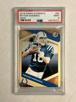 PEYTON MANNING 2018 Elements GOLD RARE SSP 04/10! PSA MINT 9! #55! COLTS! INVEST