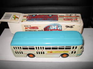 KOVAP RETRO BUSSING 1959 TIN PLATE BUS MADE IN CZECH REPUBLIC GREAT LOOKING ITEM