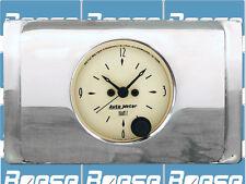 1940 Ford Deluxe Clock Insert w/ Auto Meter Antique Beige Clock
