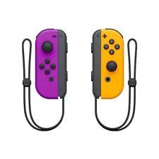 Nintendo Switch Joy Con Joycons Wireless Controllers Official Neon Purple Orange