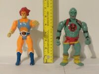 1986 Thundercats Punching LJN Toys Action Figures 🦁-O & Mumm-RA Used🔥