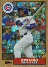 "2017  TOPPS  ""1987 CHROME  REFRACTOR""  SILVER PACK  #87-ARU  ADDISON RUSSELL"