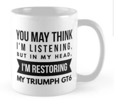 Triumph GT6 mug gift for someone restoring an unfinished project restoration