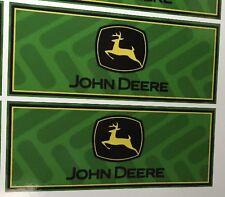 (2) JOHN DEERE Vinyl Bumper Stickers 8.5x3.5 Truck Car Window Tire Decal